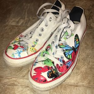 Converse Chuck Taylor butterfly sneakers